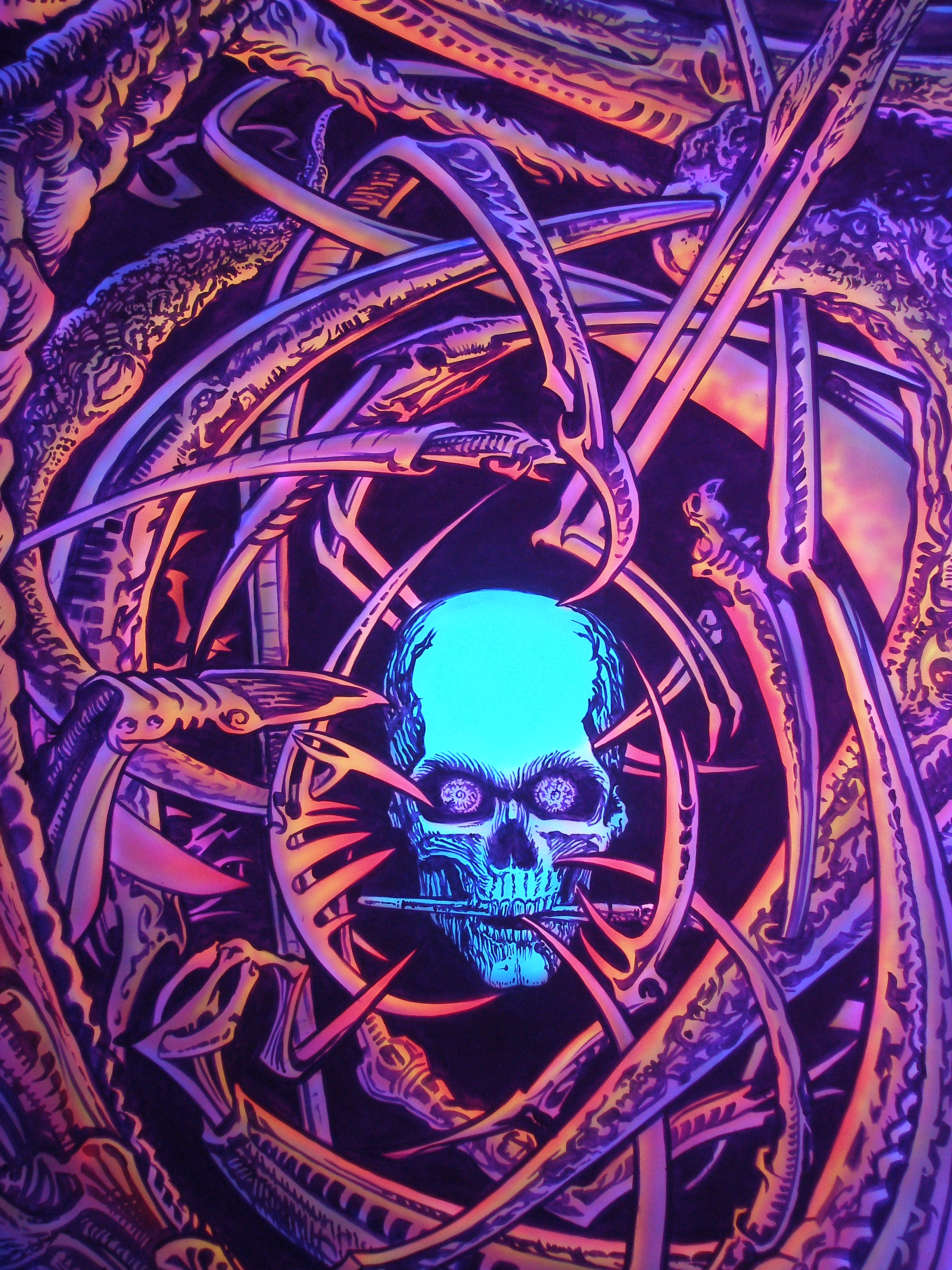 UV Black Light Art: Dual Image Under Black Light