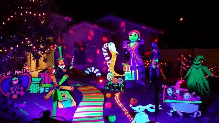 Clark Griswold Of Halloween Lights Up Neighborhood Spectacular Display