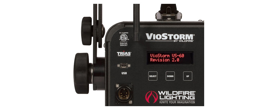 VioStorm® LED Series Intuitive Trias 3-Button Digital DMX-RDM Control and Monitoring System