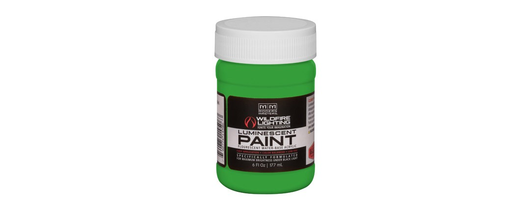 Visible Luminescent Paints Bright Green - 6oz