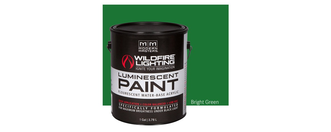 Visible Luminescent Paints Bright Green - Gallon