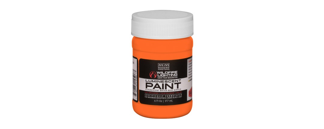 Visible Luminescent Paints Bright Orange - 6oz