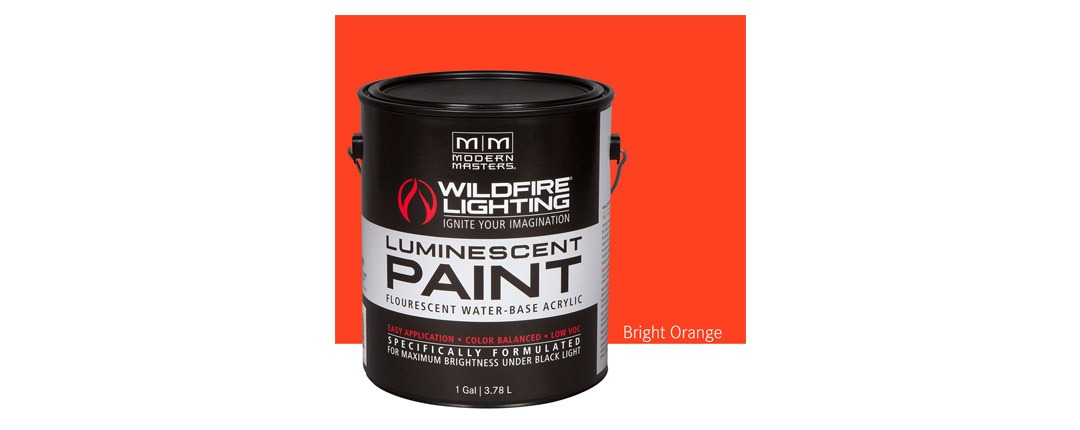 Visible Luminescent Paints Bright Orange - Gallon
