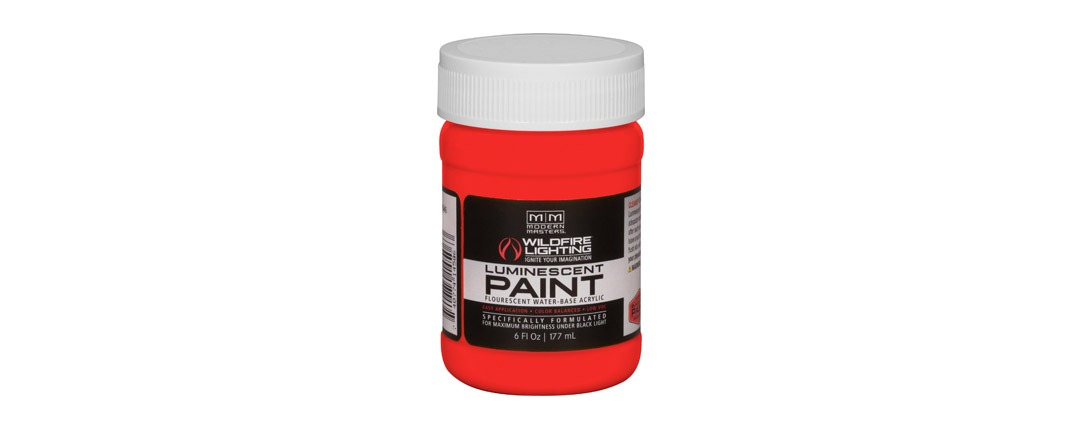 Visible Luminescent Paints Bright Red - 6oz