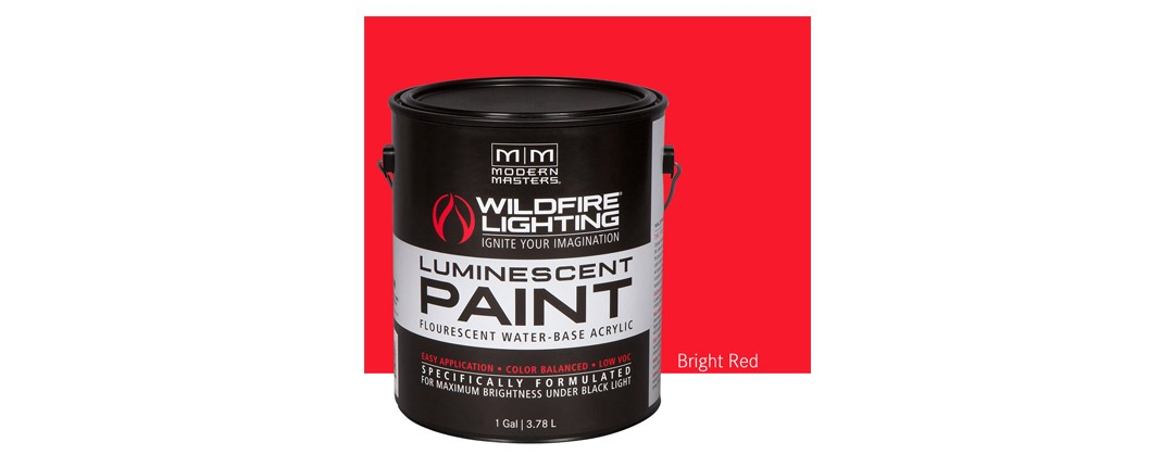 Visible Luminescent Paints Bright Red - Gallon