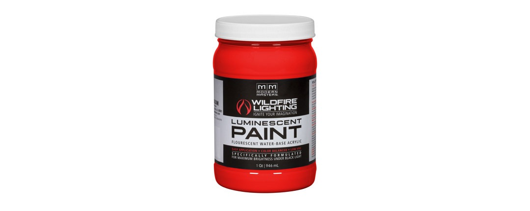 Visible Luminescent Paints Bright Red - Quart
