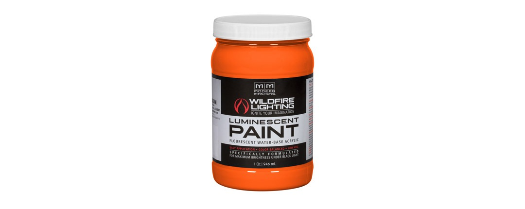 Visible Luminescent Paints Bright Orange - Quart