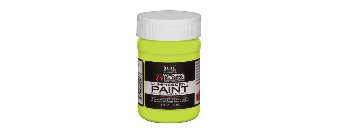 Visible Luminescent Paints Brilliant Yellow - 6oz