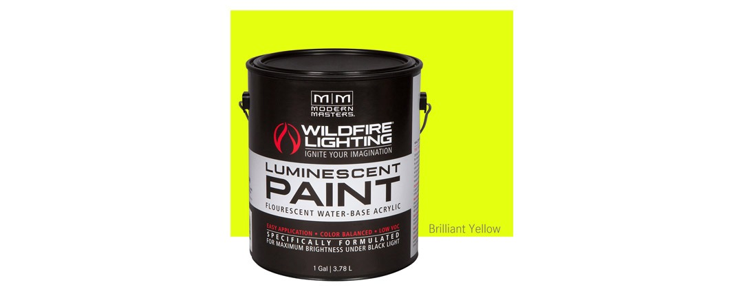 Visible Luminescent Paints Brilliant Yellow - Gallon