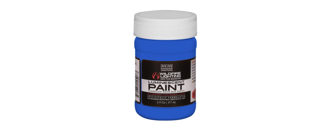Visible Luminescent Paints Deep Blue - 6oz