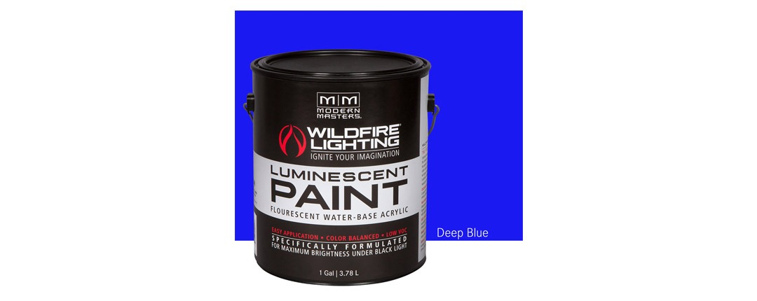 Visible Luminescent Paints Deep Blue - Gallon