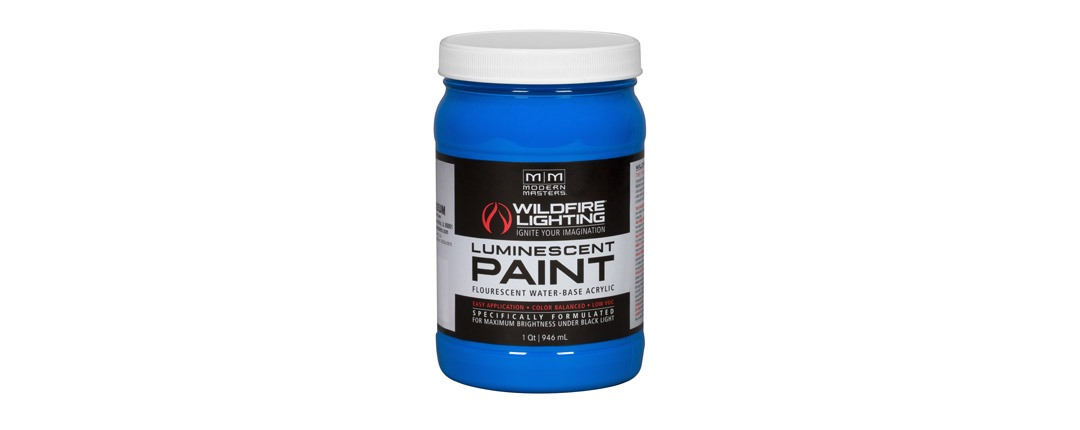 Visible Luminescent Paints Deep Blue - Quart