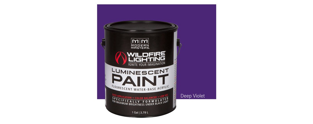 Visible Luminescent Paints Deep Violet - Gallon