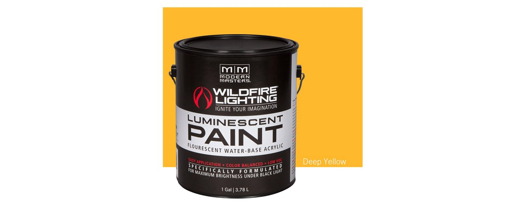 Visible Luminescent Paints Deep Yellow - Gallon