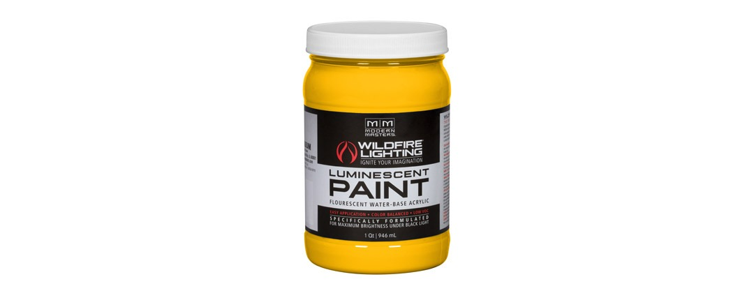 Visible Luminescent Paints Deep Yellow - Quart