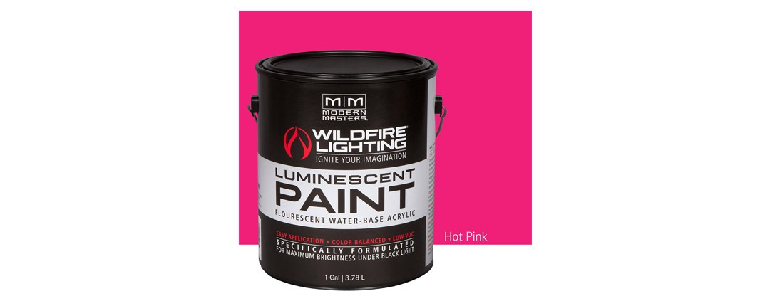 Visible Luminescent Paints Hot Pink - Gallon