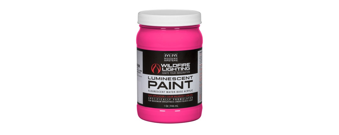 Visible Luminescent Paints Hot Pink - Quart