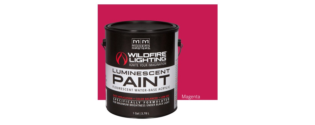 Visible Luminescent Paints Magenta - Gallon