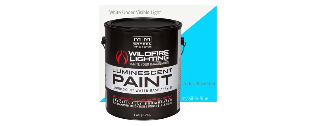 Invisible Luminescent Paints Blue - Gallon