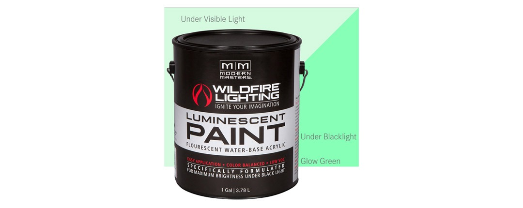 Invisible Luminescent Paints Glow Green - Gallon