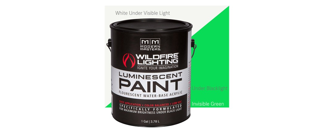 Invisible Luminescent Paints Green - Gallon