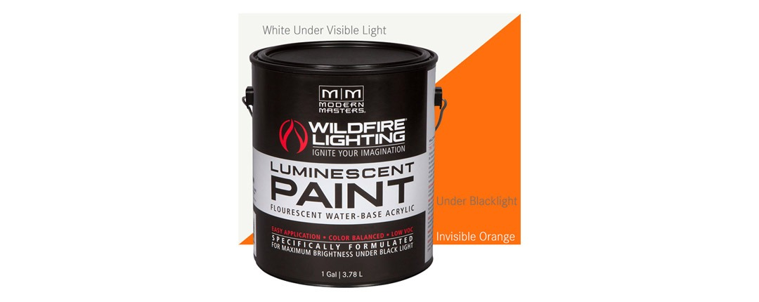 Invisible Luminescent Paints Orange - Gallon