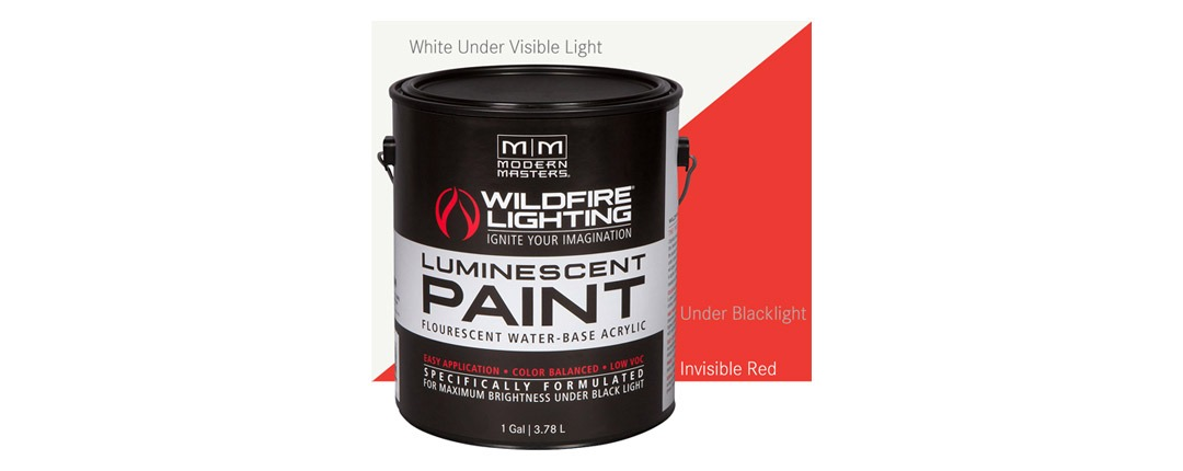 Invisible Luminescent Paints Red - Gallon