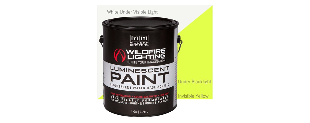 Invisible Luminescent Paints Yellow - Gallon