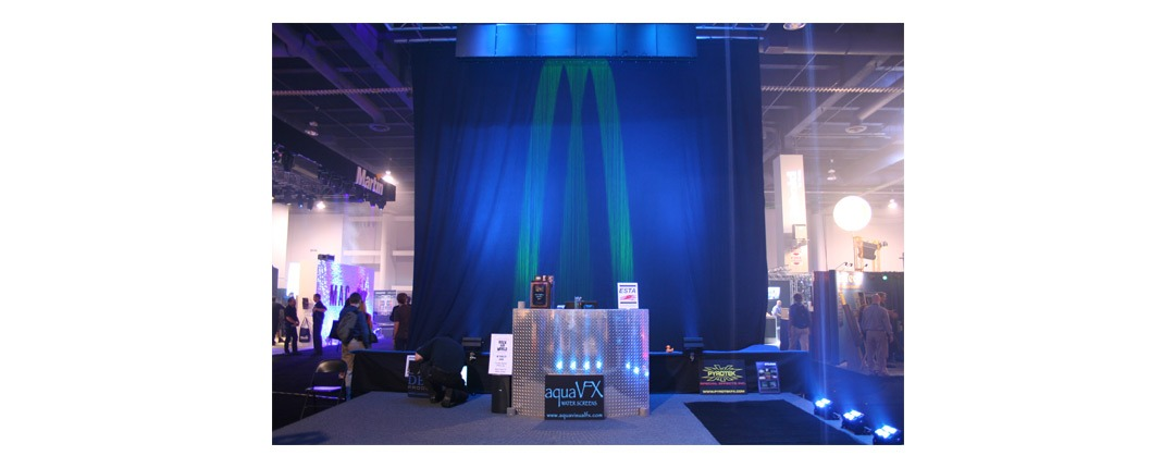 Luminescent Water Dye Application Example - Trade Show